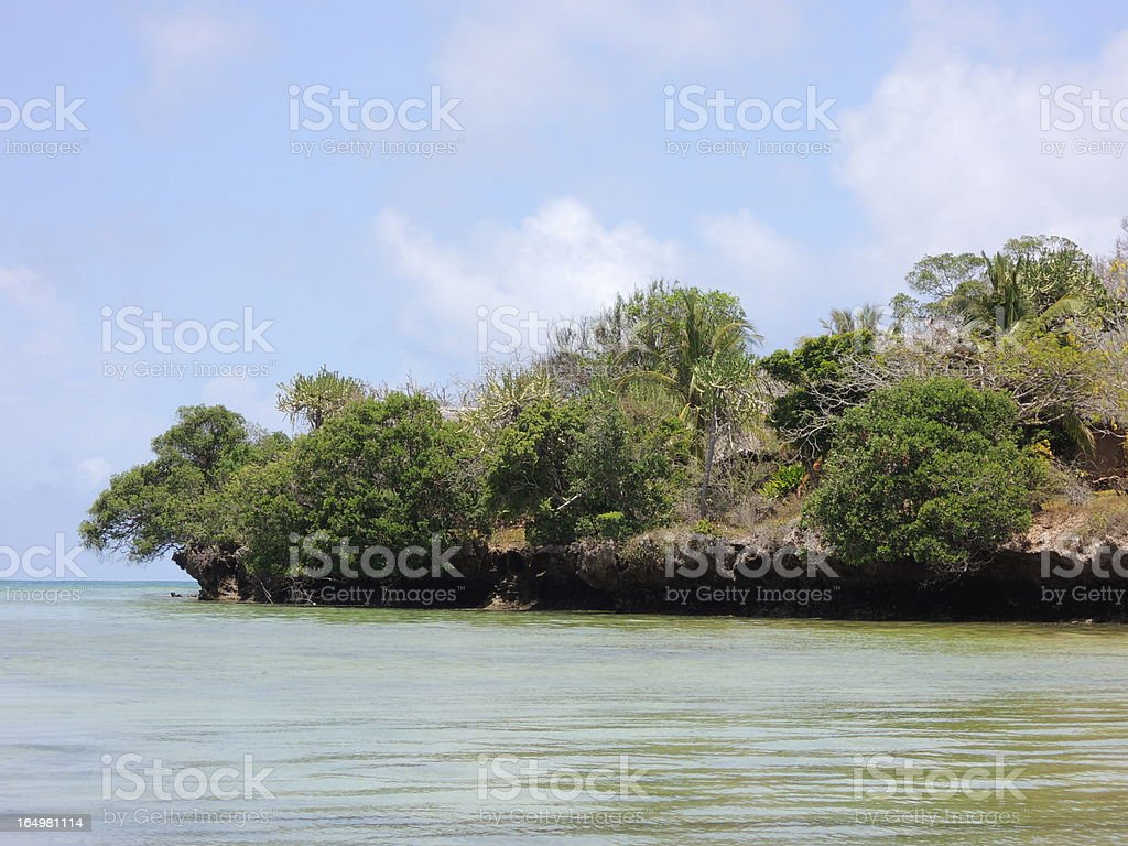 Green Island in the Indian Ocean, Kenya royalty-free stock photo