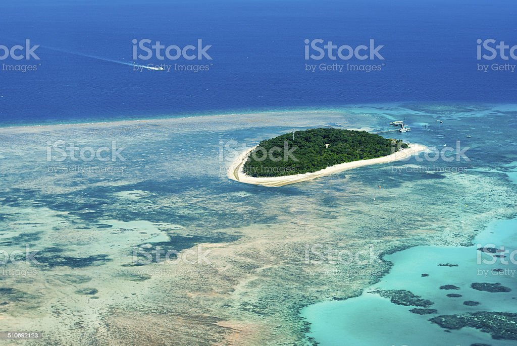 Green Island on the Great Barrier Reef stock photo