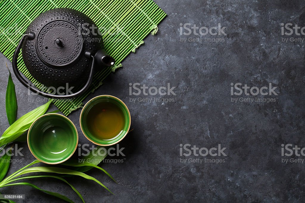 Green japanese tea stock photo