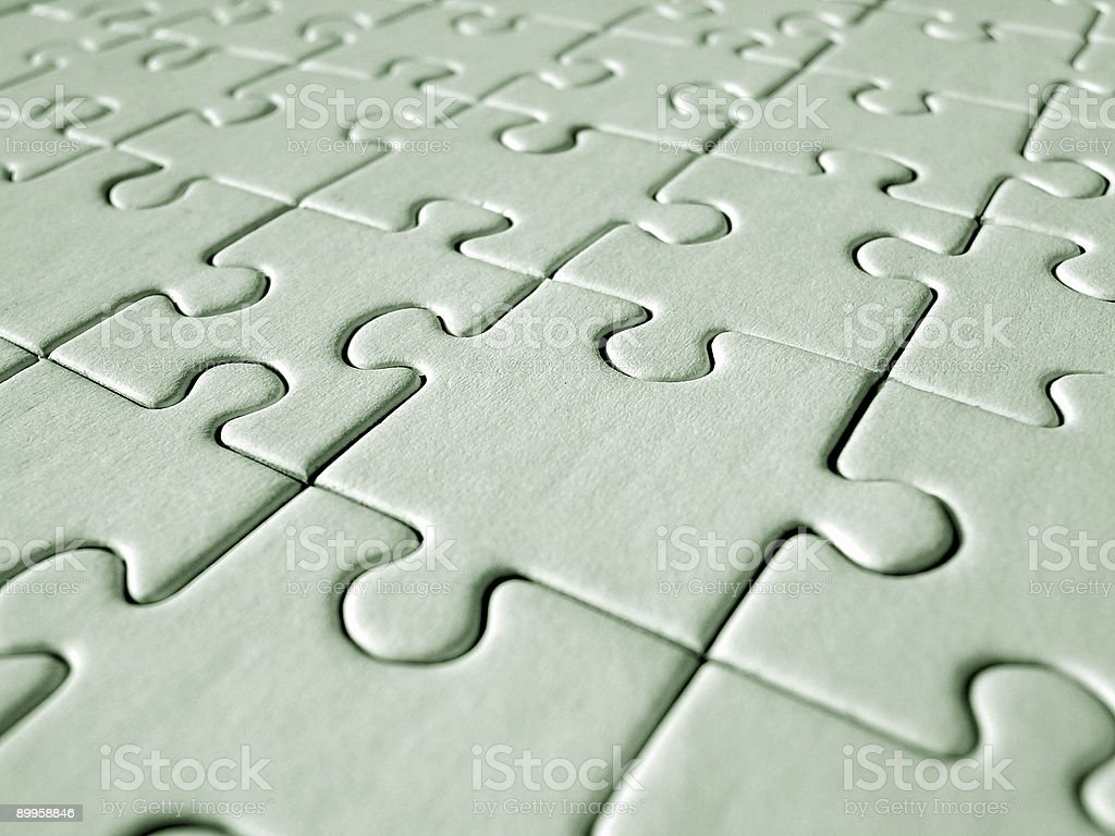 Green jigsaw royalty-free stock photo