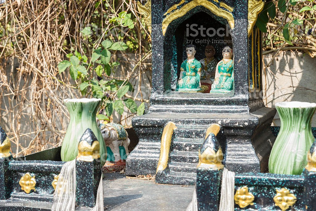 green joss house stock photo