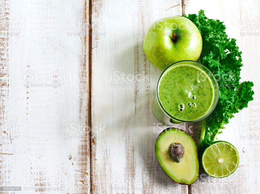 Green juice. Healthy drink. stock photo