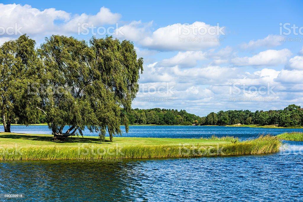 Green Kalmar city stock photo