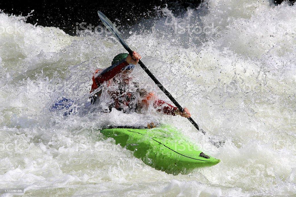 Green Kayak royalty-free stock photo