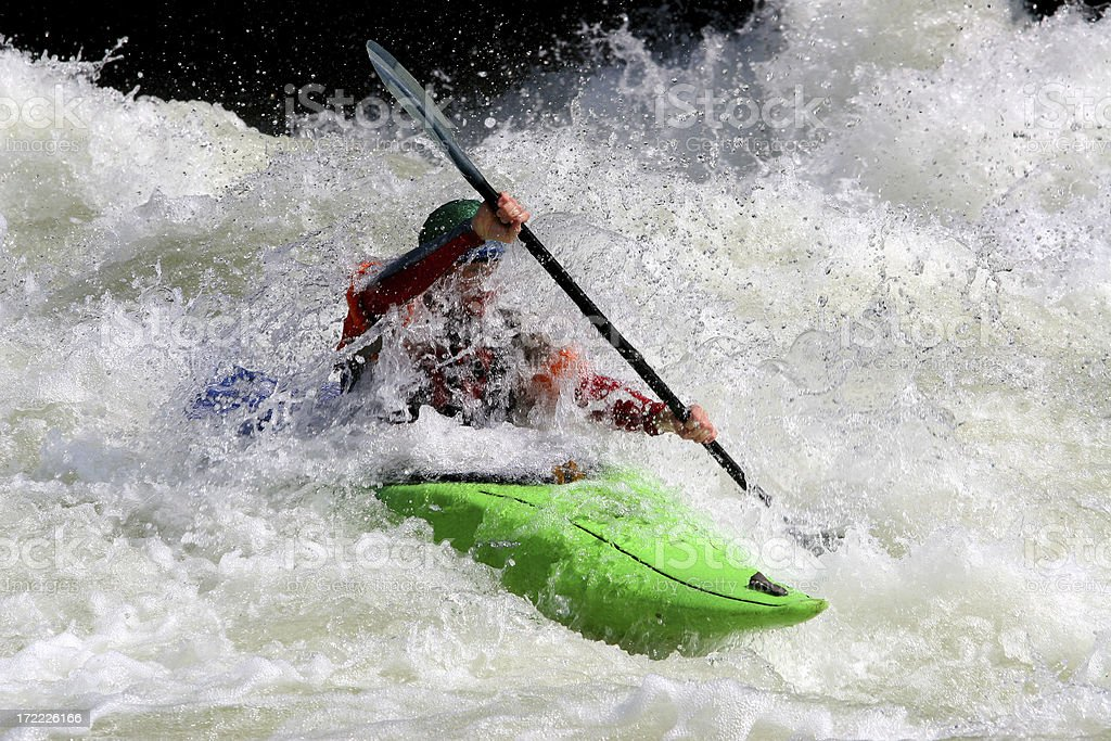 Green Kayak stock photo