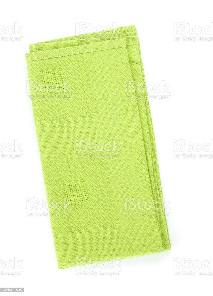 Green kitchen towel stock photo