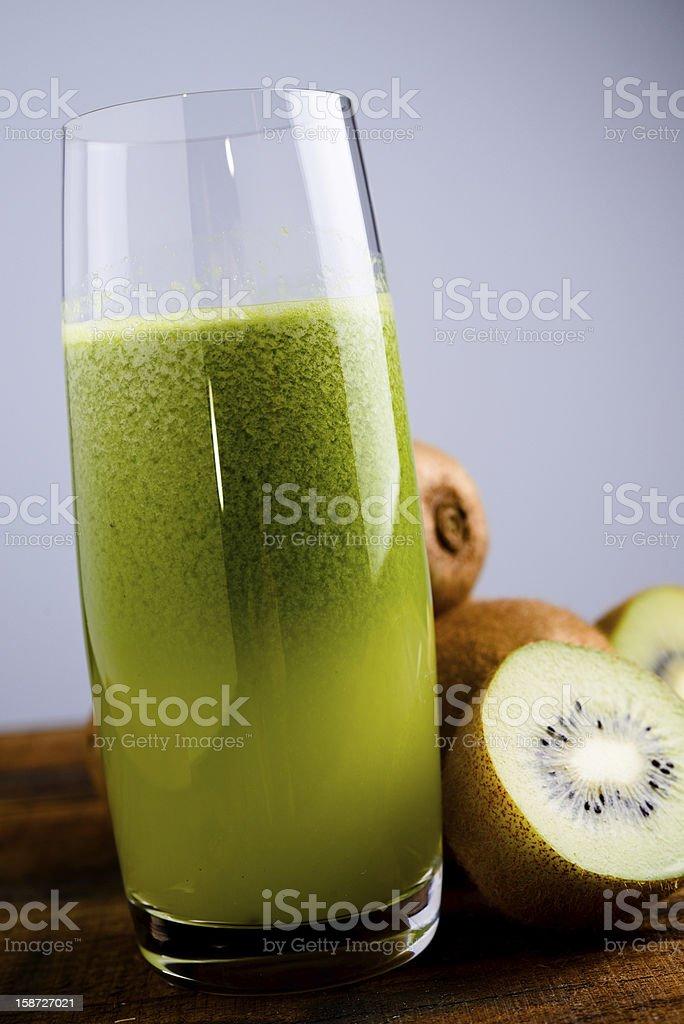 green kiwi juice royalty-free stock photo