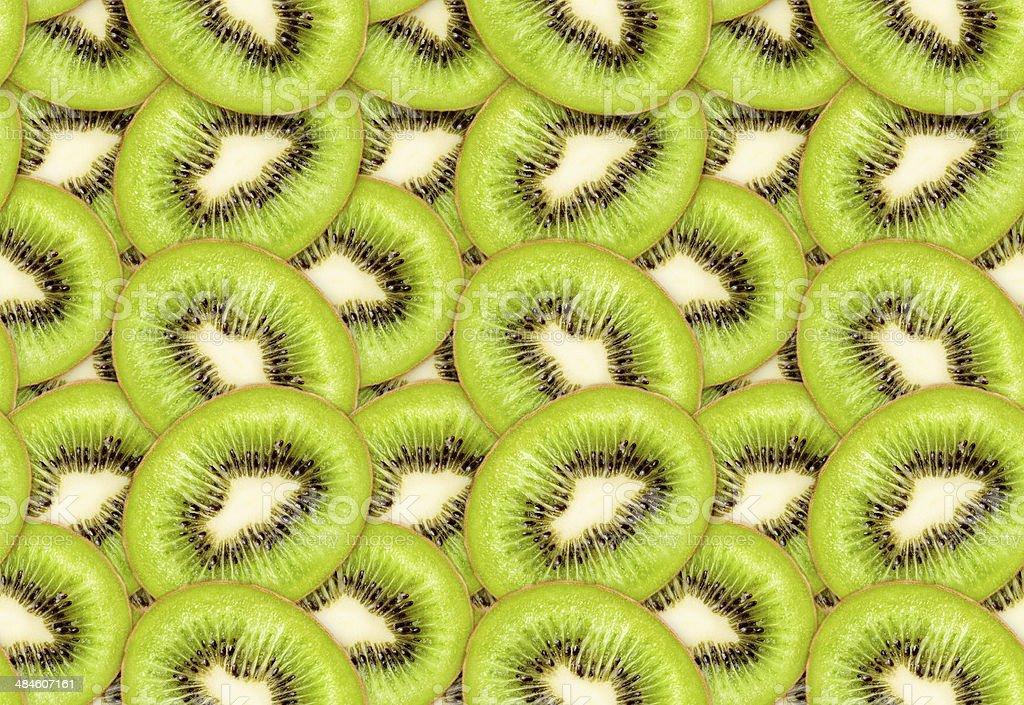 Zielony kiwi bezszwowe tekstura płótna zbiór zdjęć royalty-free