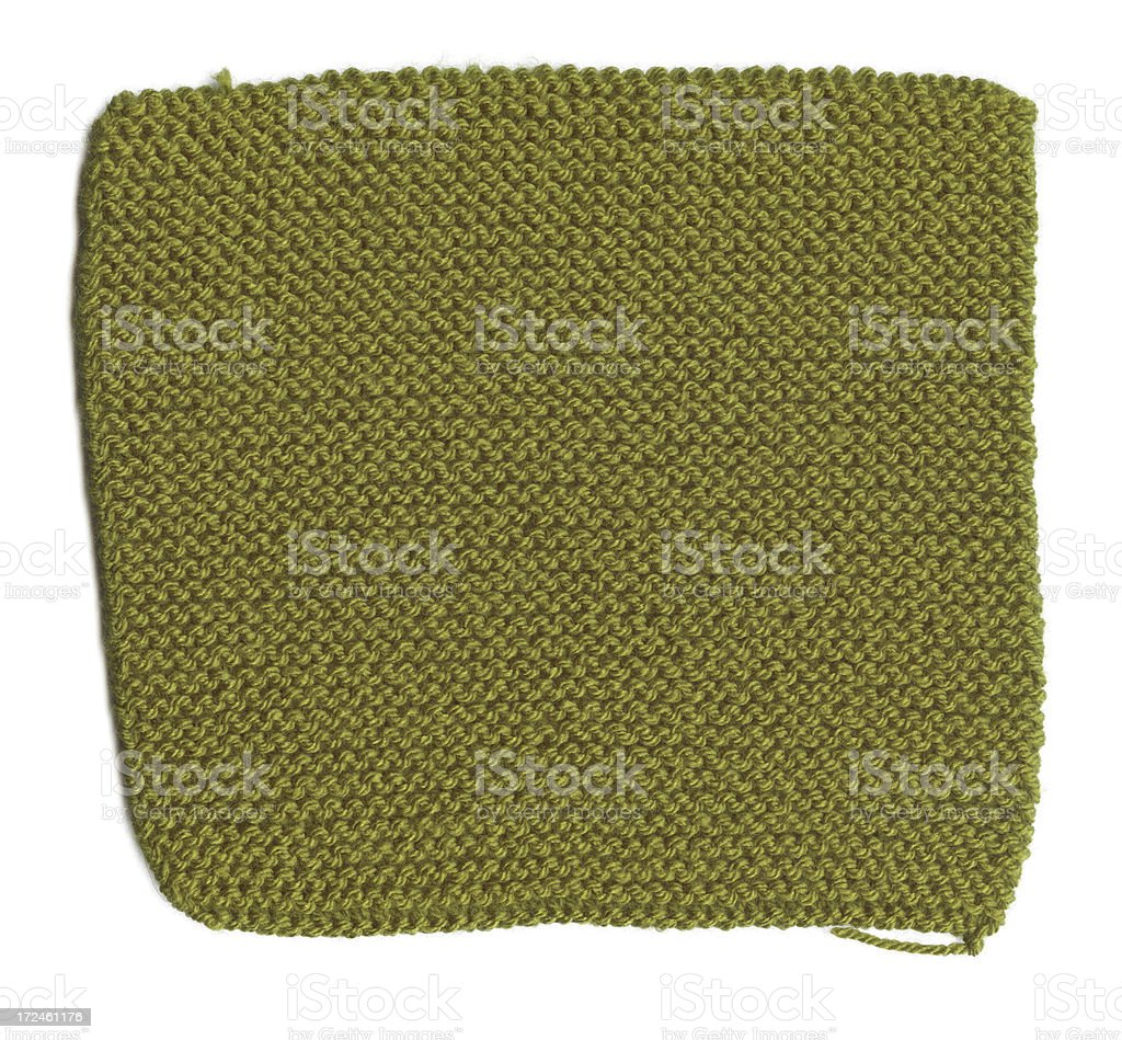 Green Knitted Fabric royalty-free stock photo