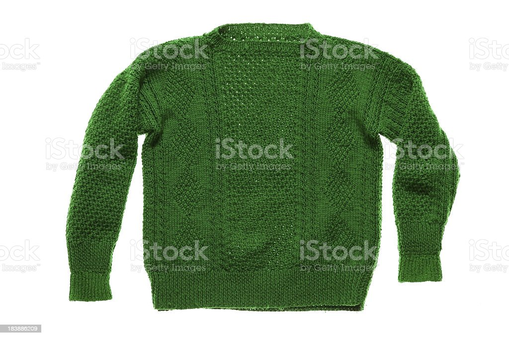 Green Knitted top stock photo