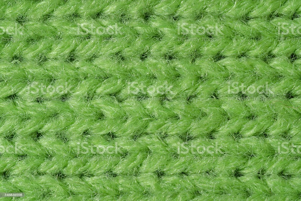 Green knitted wool close up royalty-free stock photo