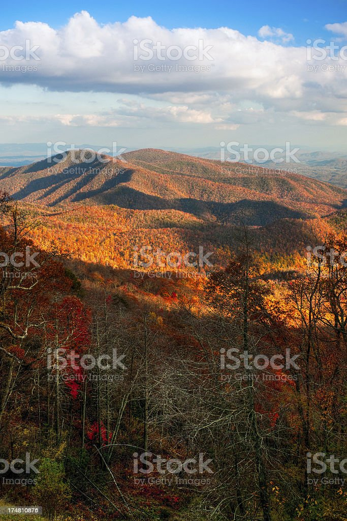 Green Knob Overlook, Blue Ridge Parkway, North Carolina, USA stock photo