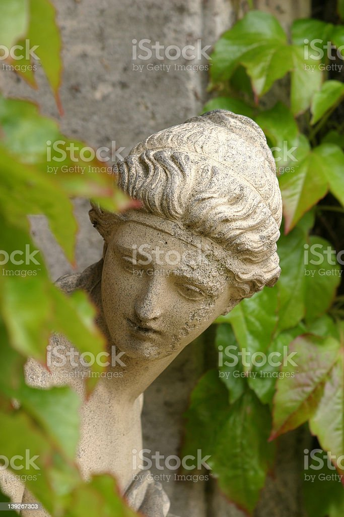 Green Lady royalty-free stock photo