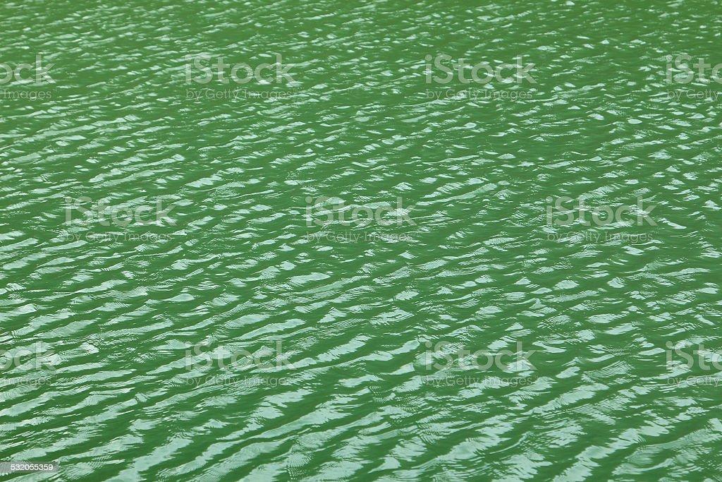 Green lake stock photo