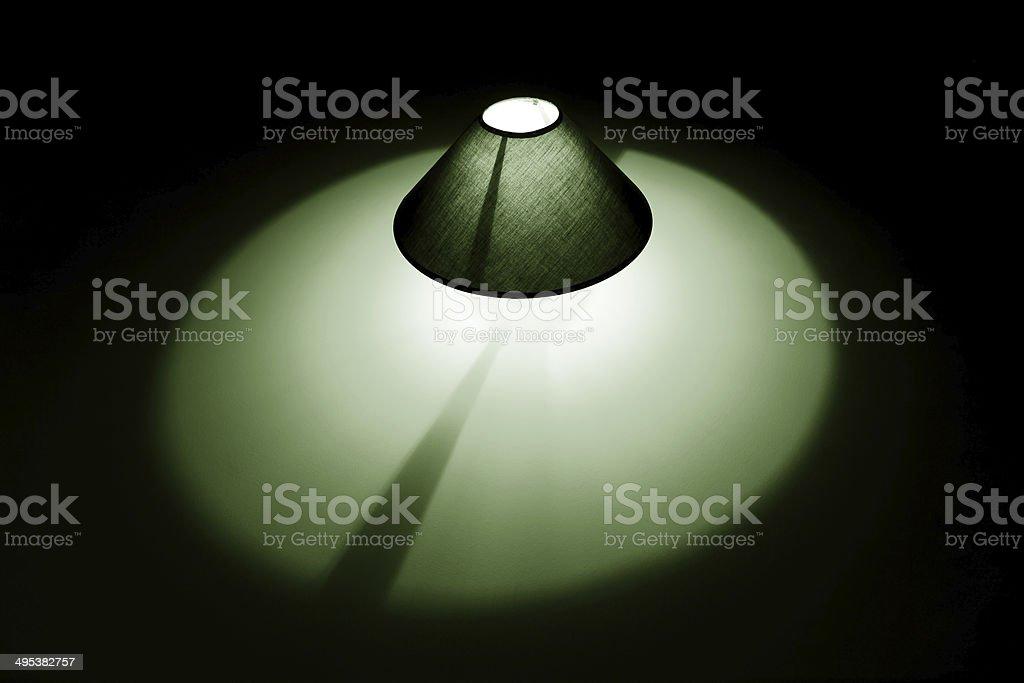 Lampe vert photo libre de droits