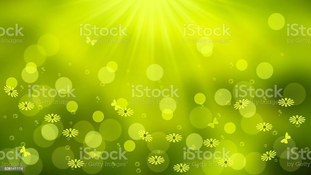 green landscape in spring stock photo