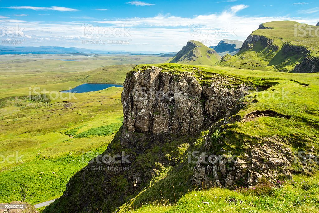 Green landscape on the Isle of Skye stock photo