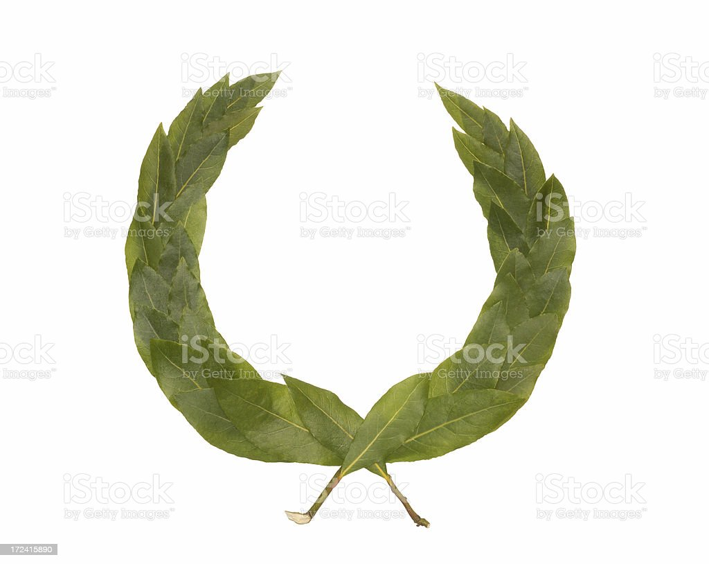 green laurel wreath royalty-free stock photo
