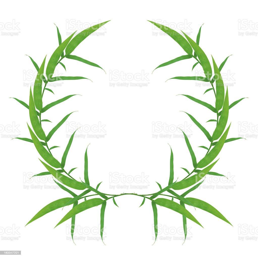 Green laurel wreath stock photo