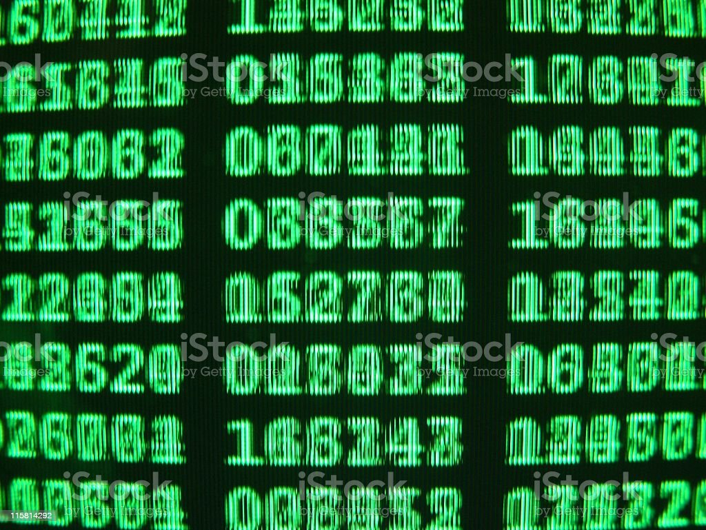 Green LCD royalty-free stock photo