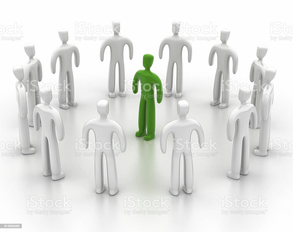 Green Leader royalty-free stock photo