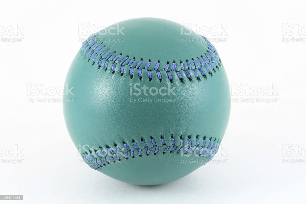 Green Leather Baseball royalty-free stock photo