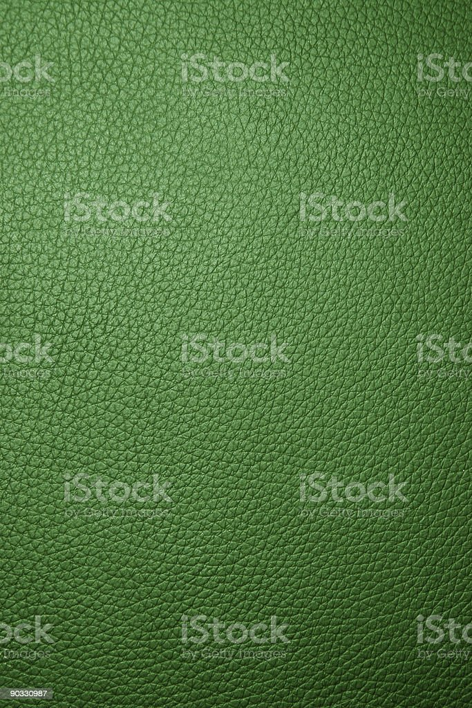 Green leather - Macro royalty-free stock photo