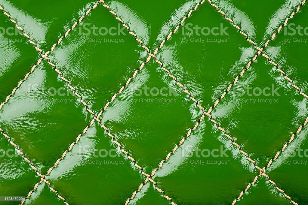 Green Leather royalty-free stock photo
