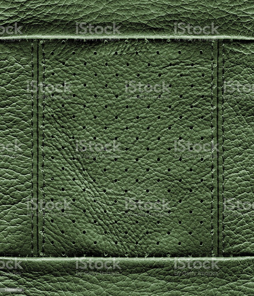 Green Leather Texture stock photo