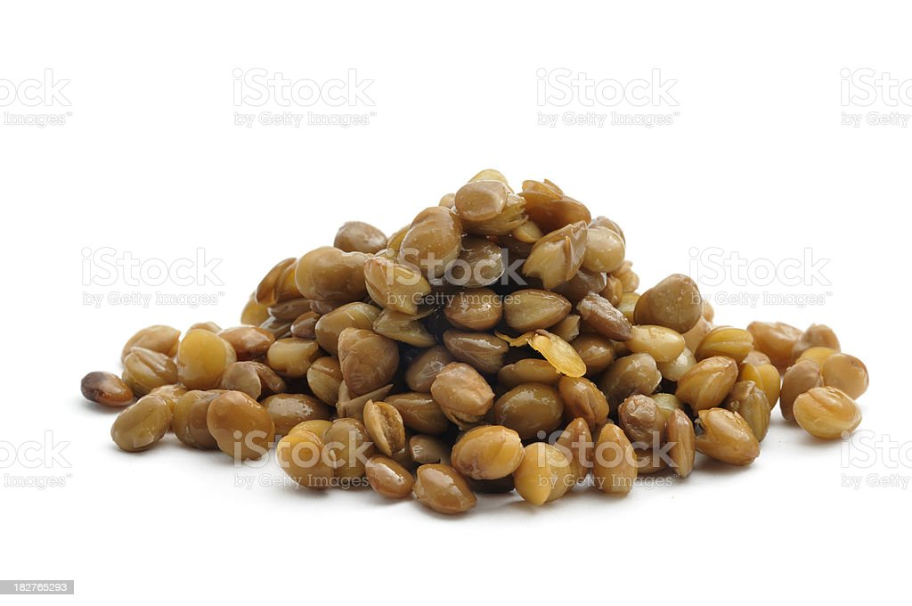 Green lentils cooked royalty-free stock photo