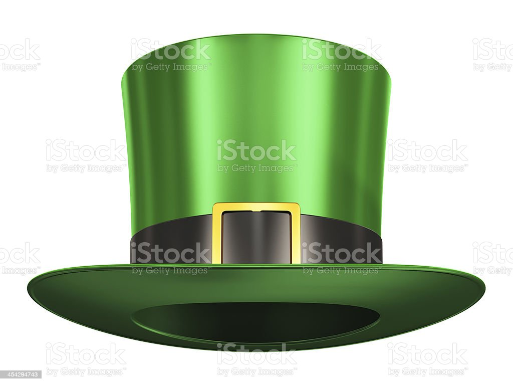 Green Leprechaun hat stock photo