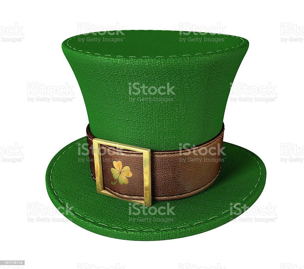 Green Leprechaun Shamrock Hat stock photo