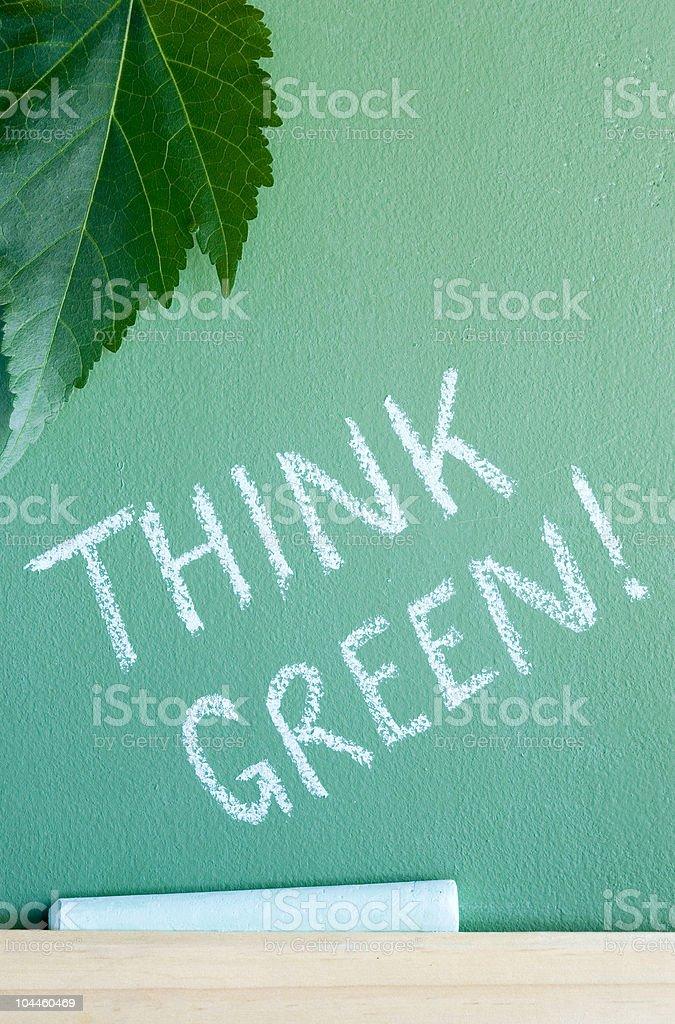 Green lesson stock photo