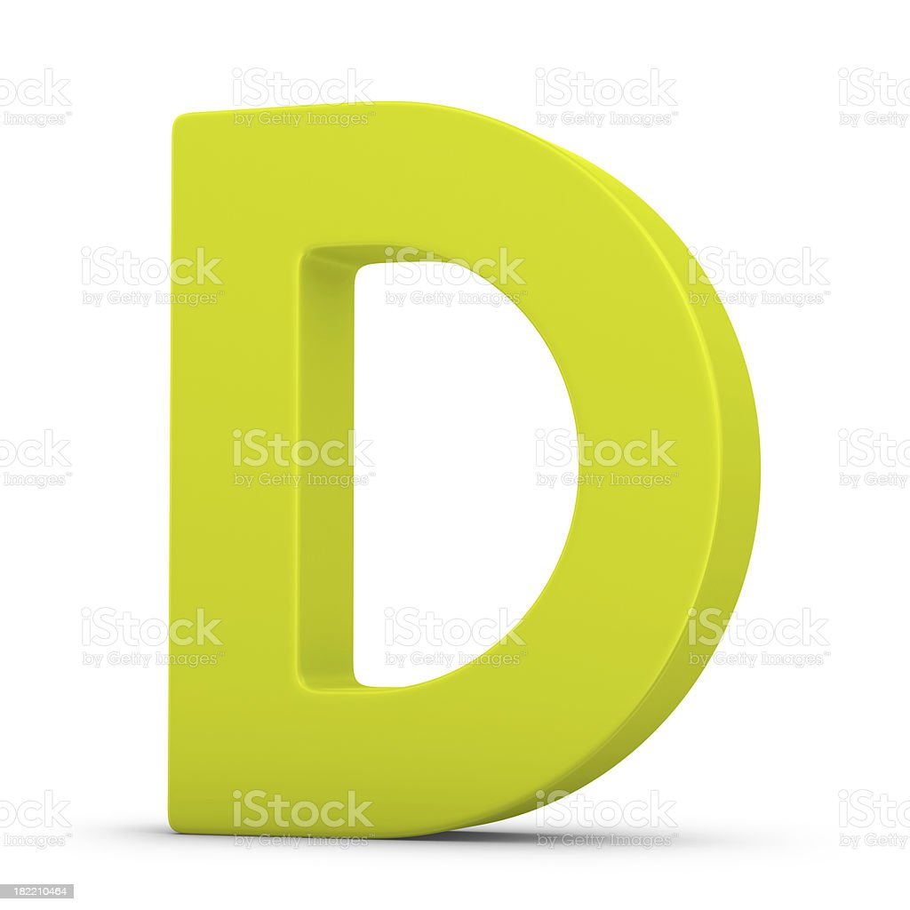 green letter D stock photo