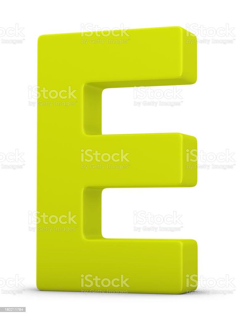 green letter E stock photo