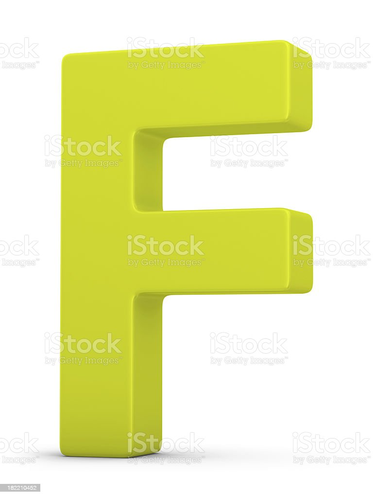 green letter F royalty-free stock photo