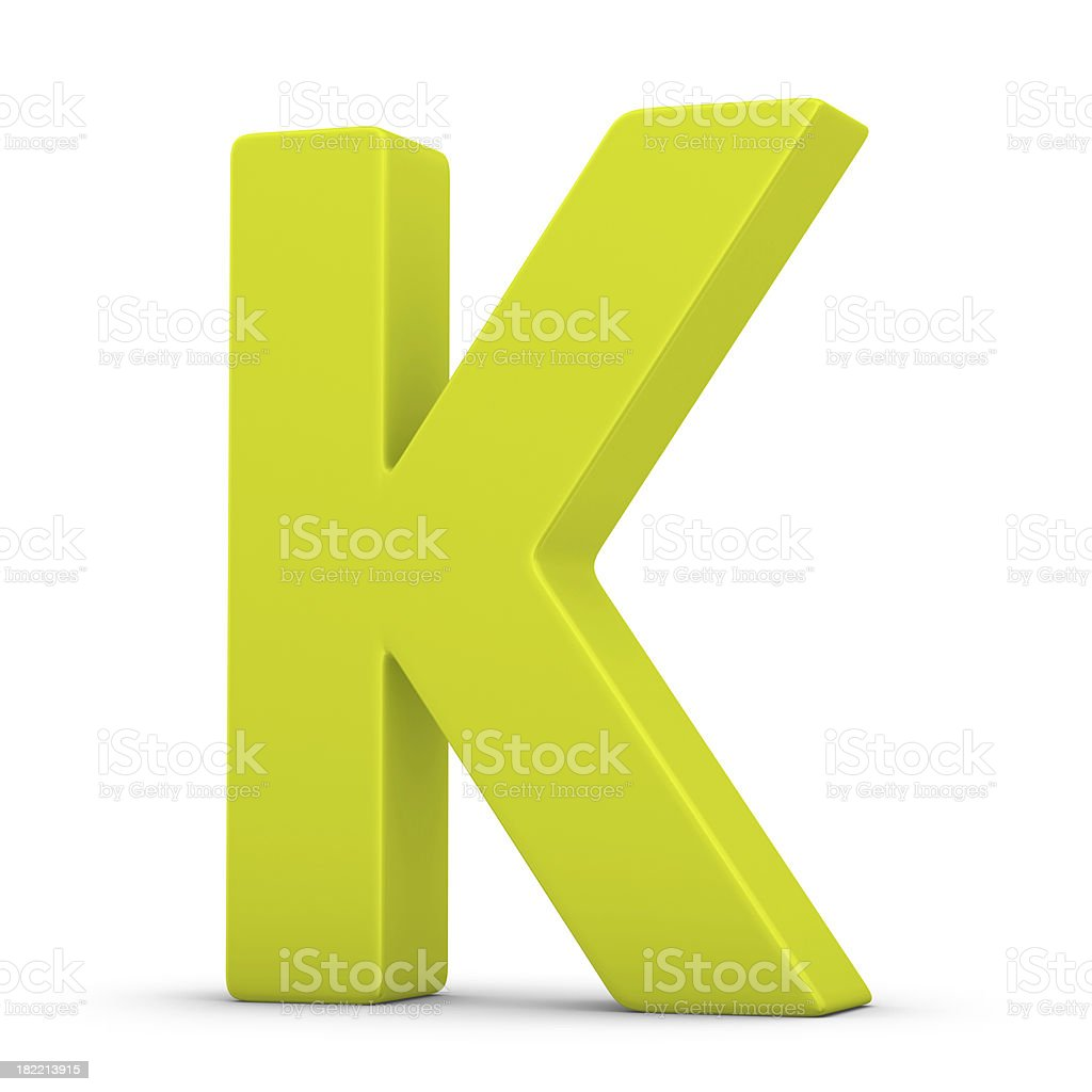 green letter K royalty-free stock photo