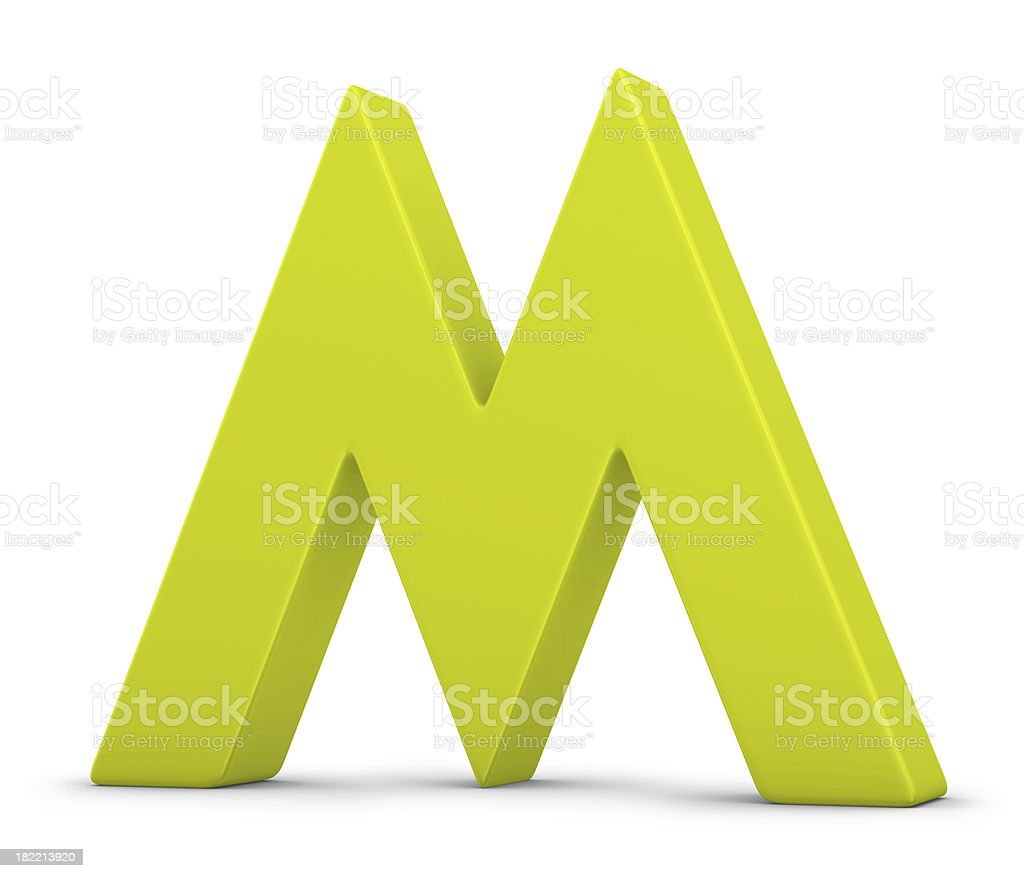 green letter M royalty-free stock photo