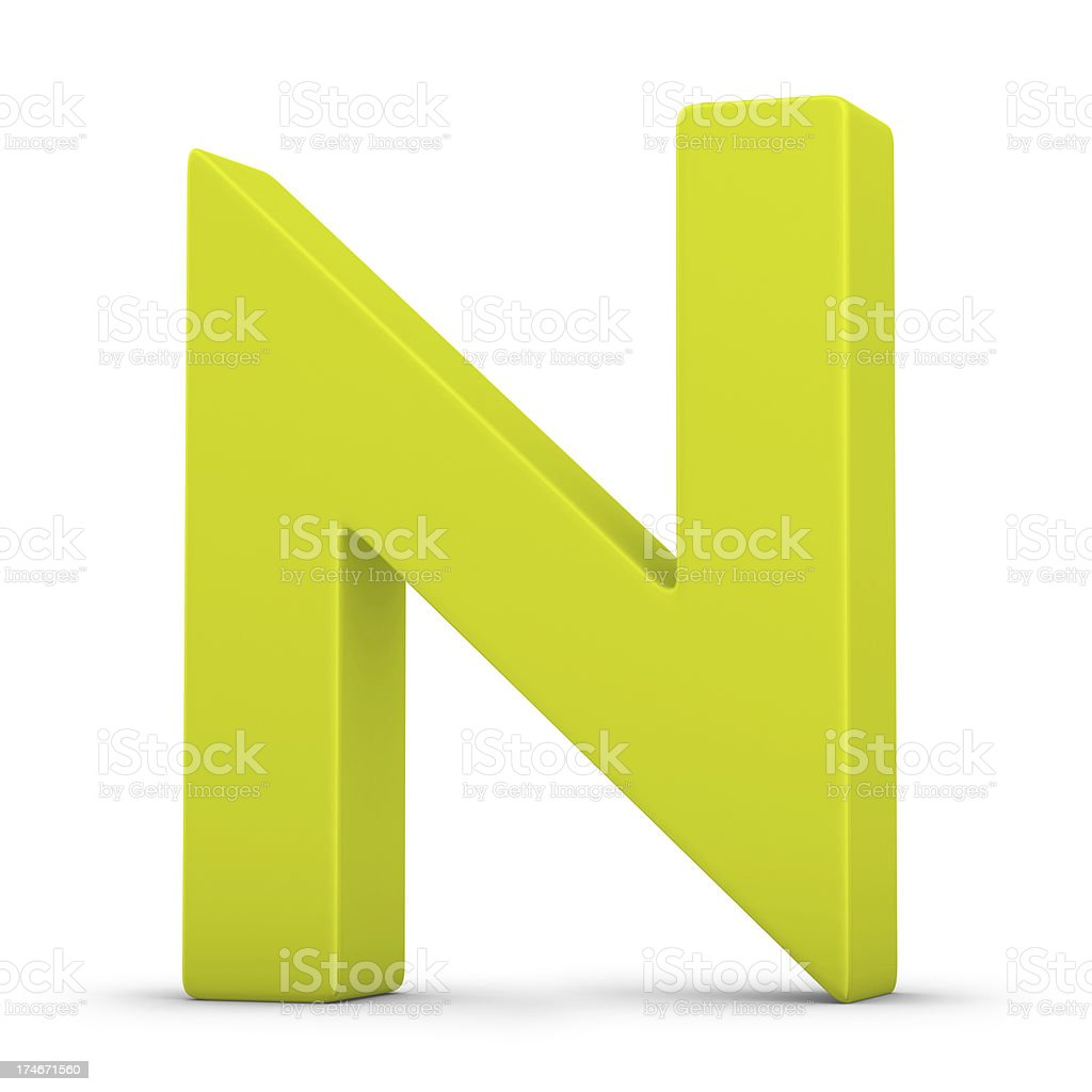green letter N stock photo