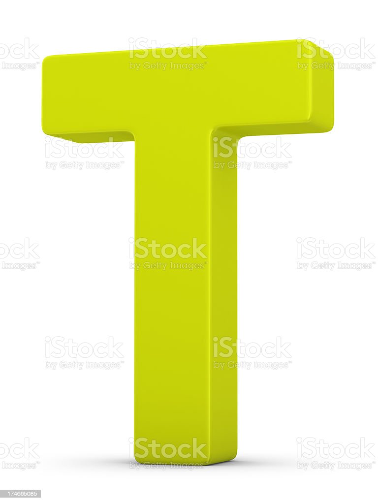 green letter T stock photo
