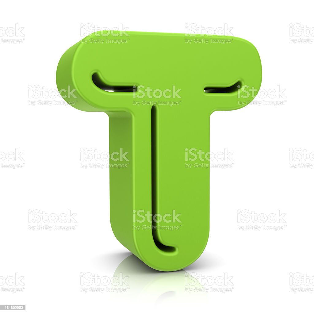 Green Letter T royalty-free stock photo