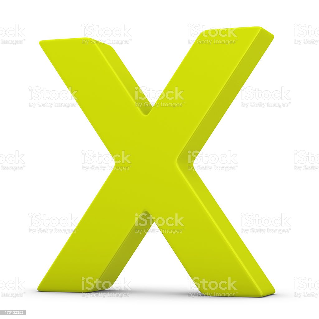 green letter X royalty-free stock photo