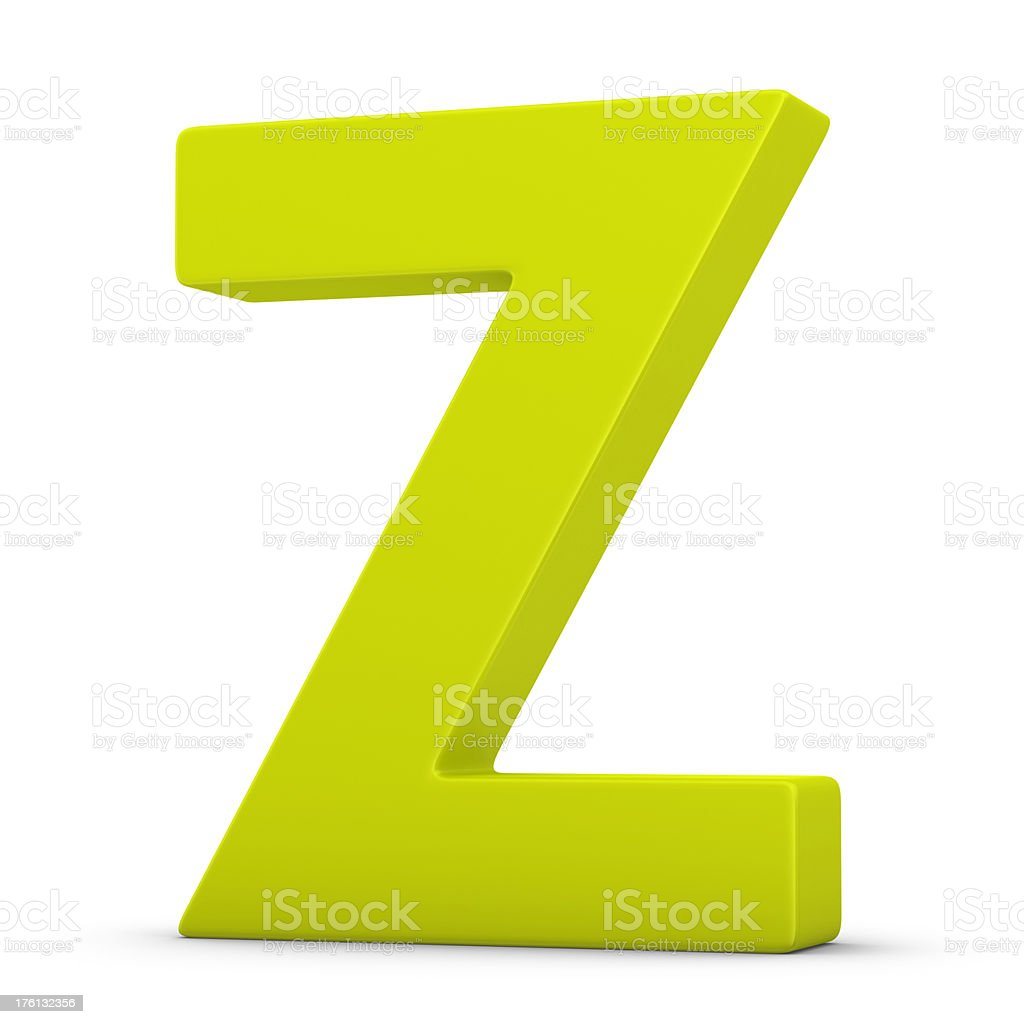 green letter Z stock photo