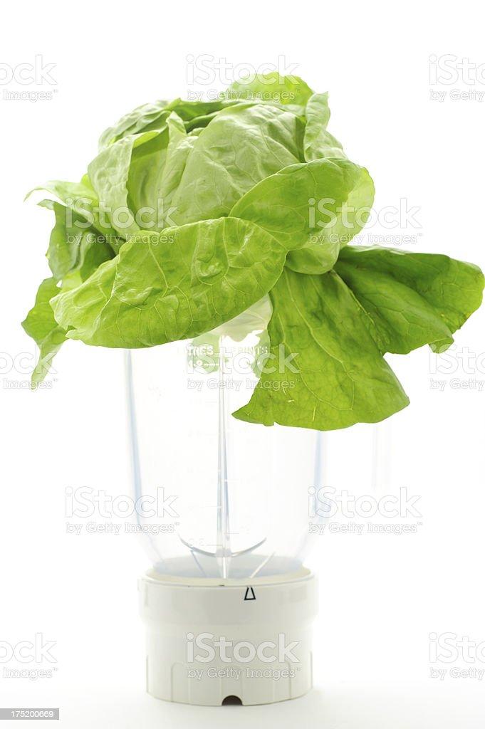Green Lettuce in Blender stock photo