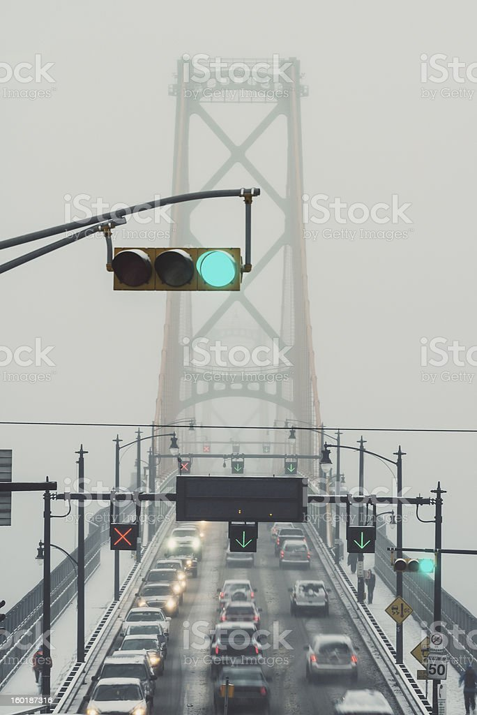 Green Light in Rush Hour royalty-free stock photo