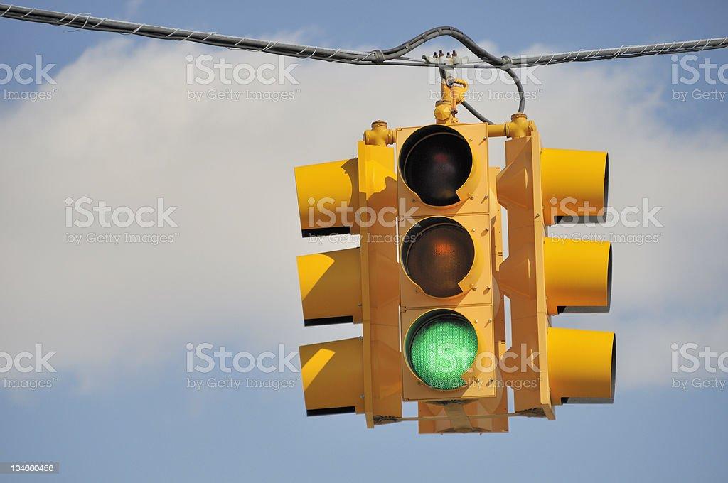 Green Light Traffic Signal royalty-free stock photo
