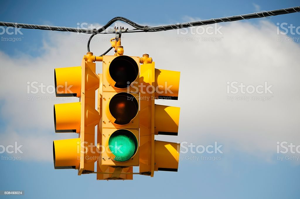 Green Light Traffic Signal stock photo