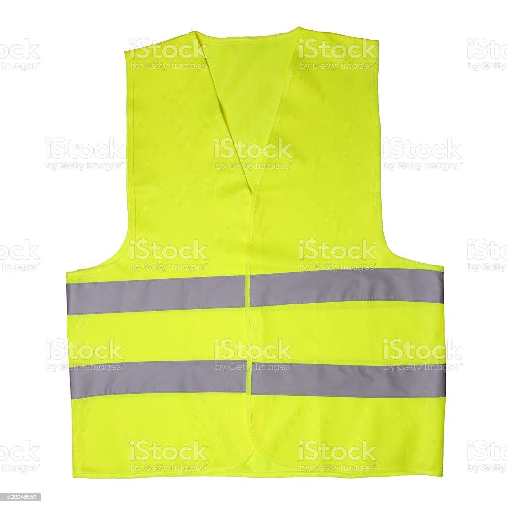 Green light vest stock photo