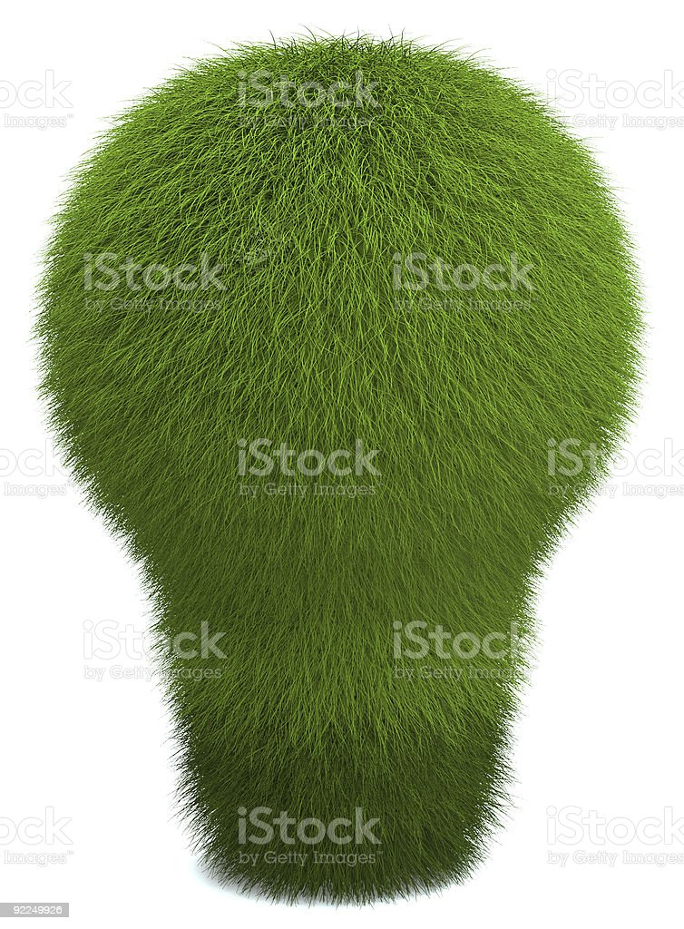 Green Lightbulb royalty-free stock photo