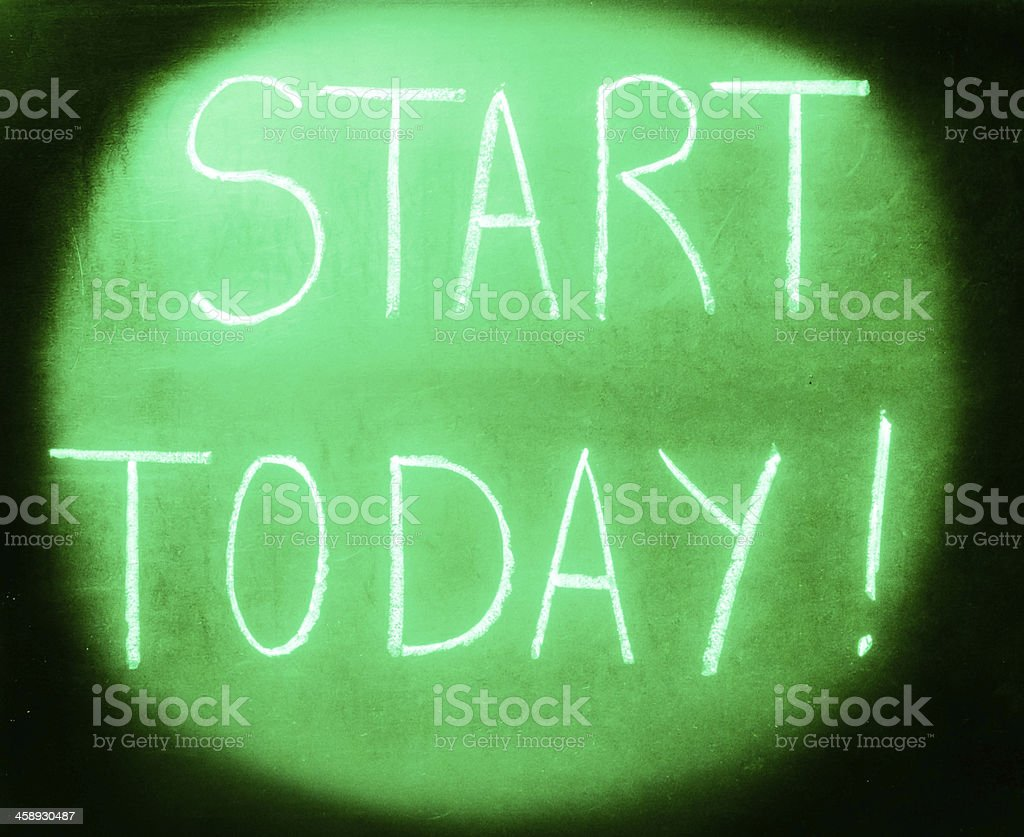 Green light.Start today. royalty-free stock photo